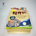 kraft paper bag with window for wind-dried yak meat food grade flat bottom bag