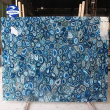 Natural luxury onyx blue agate marble slabs price for inner stone walls decoration