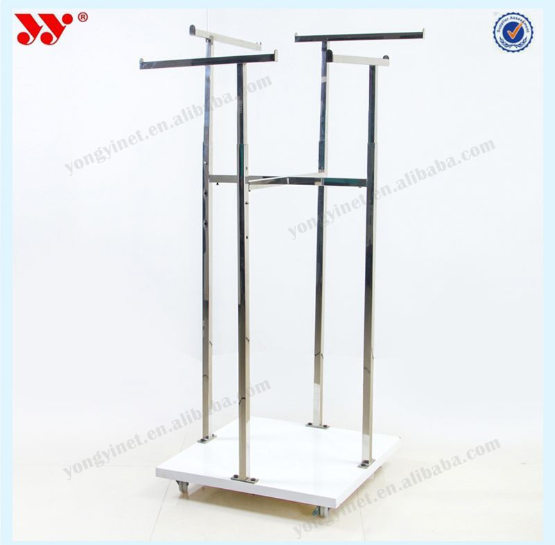 High-end pretty 4 way square tubing display stand
