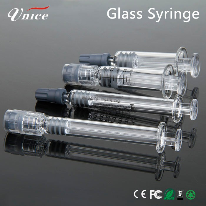 0.5ml cbd vaporizer cbd oil disposable glass syringe 1ml glass wax pen ceramic 510 thread cbd vape pen battery