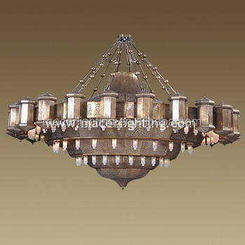 Muslim islamic mosque lighting big chandelier