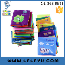 baby education play cartoon cloth book of plush toys made by polyester fabric