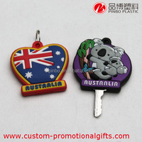 Silicone Key Cover,high quality 3d soft pvc keychain,silicone key rings holder