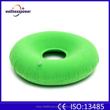 Inflatable Natural Medical Nylon PVC Ring donut Cushion With air pump