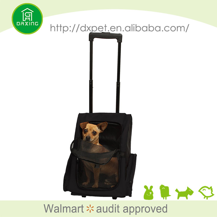 DXPB011Expandable carry on travel sling fashion airline dog carrier with wheels