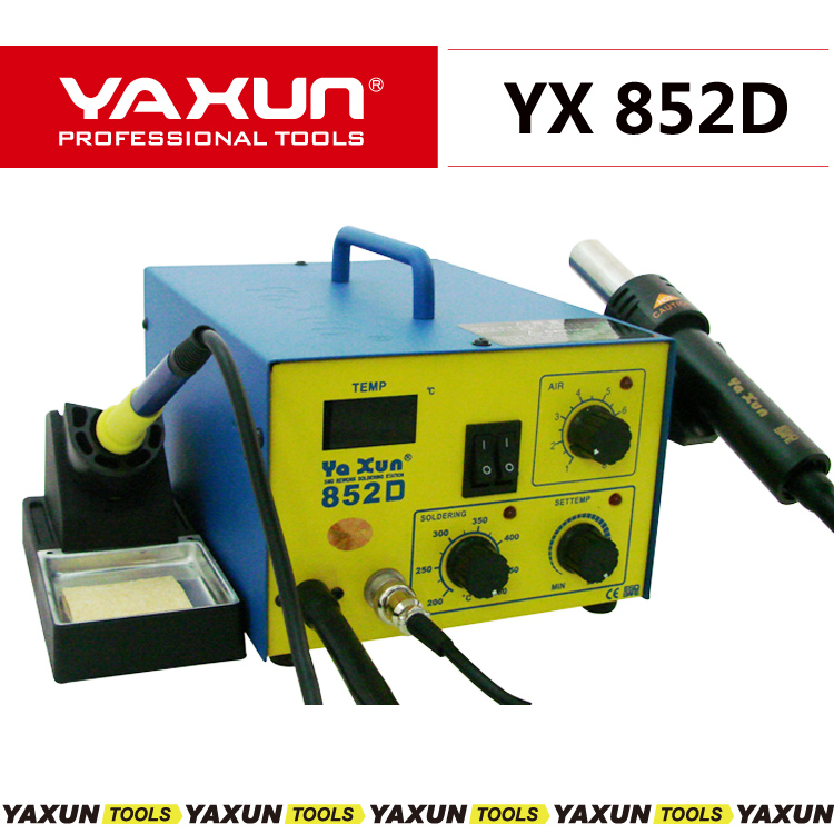 yaxun 852D hot air gun and soldering 2 in 1 SMD rework station