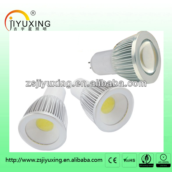 New 3w 5w 7w 9w COB led spot light with high luminous with CE&RoHS(MR16, GU10,E27 available)