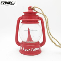 2015 fresh design led latern snow globe for wedding gifts Eiffel Tower love story theme