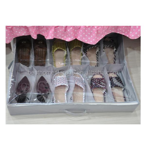 Pliable chaussures de stockage organisateur chaussures - Rangement chaussures sous lit ...