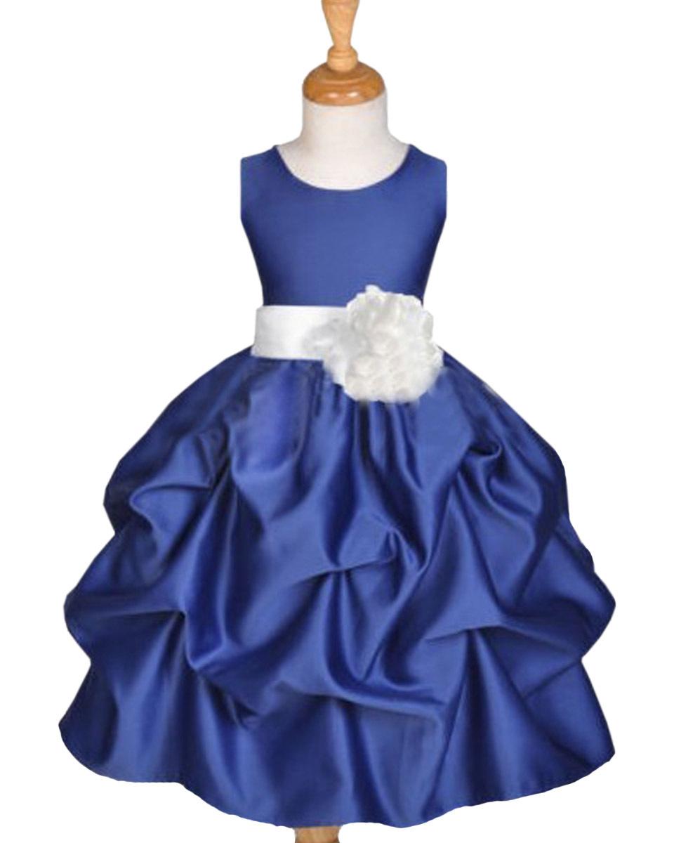 Cheap blue flowergirl dresses find blue flowergirl dresses deals on get quotations 2015 flower girl dresses applique ball gown flowergirl dress vestido daminha white and royal blue girl izmirmasajfo