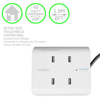 4 POST White Rapid Fast Micro USB Battery Home Wall Travel AC Charger For Cell Phone with UK plug