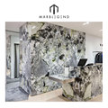NYC luxury stores interior design hit ice jade green marble tile