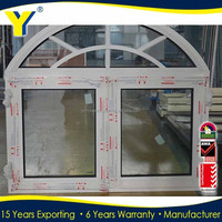 YY construction double glazed top arched aluminium casement window,sliding window /window grills design