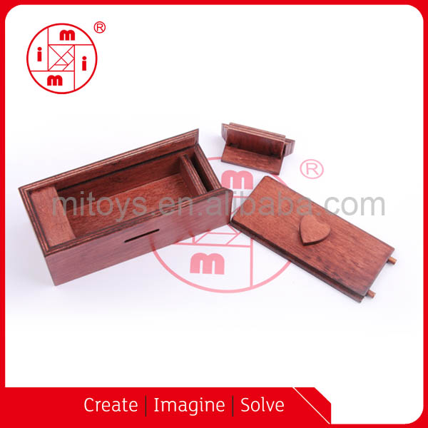 puzzle game wooden brain teaser magic secret cash box
