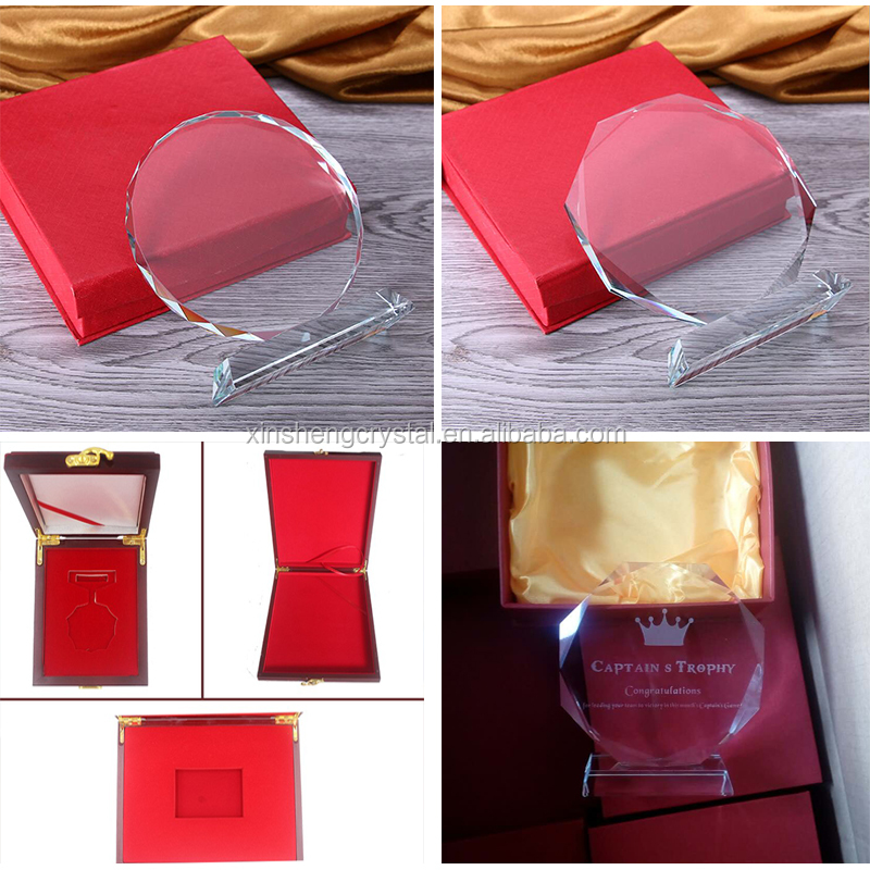 Wholesale engrave cheap emmy trophy custom glass crystal award trophy