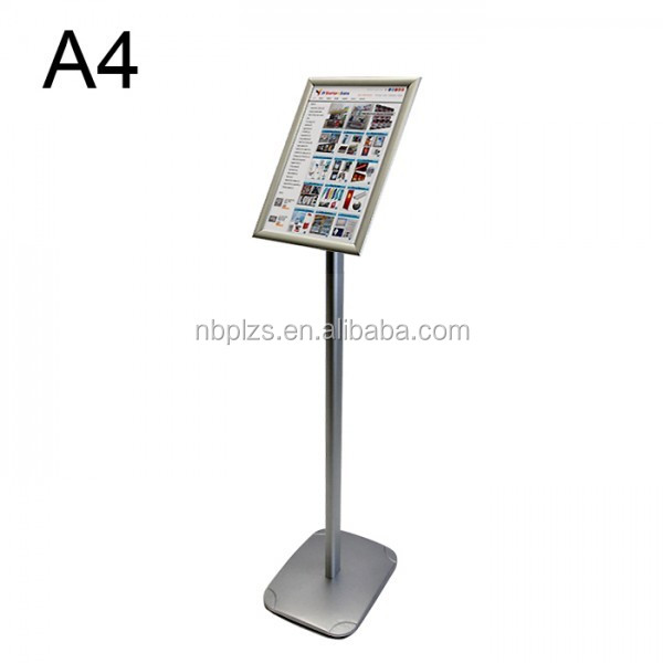 aluminum menu display frame poster stand a4 size sign holder