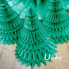 artificial decorating tree colorful tissue honeycomb decorating treeartificial decorating tree for grass