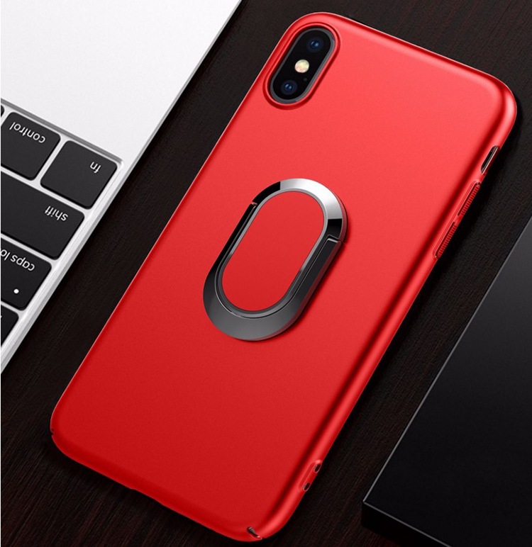 DFIFAN Magnet Ring Stand Phone Case for Apple iphone X, Hard PC Magnetic Mobile Phone Cover Case Shell for iPhone X