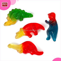 animal series dinosaur shaped soft jelly halal gummy candy