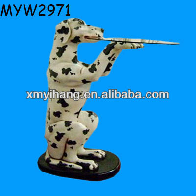 Dog server Resin decorative animated butler