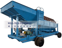 small trommel mining machine for wash placer gold