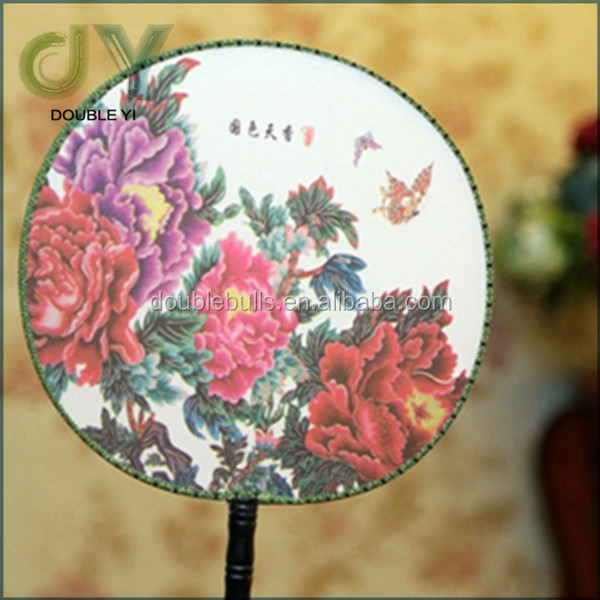 Hot sale Chinese Crafts round silk fan