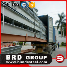 Low cost construction design two story steel structure warehouse