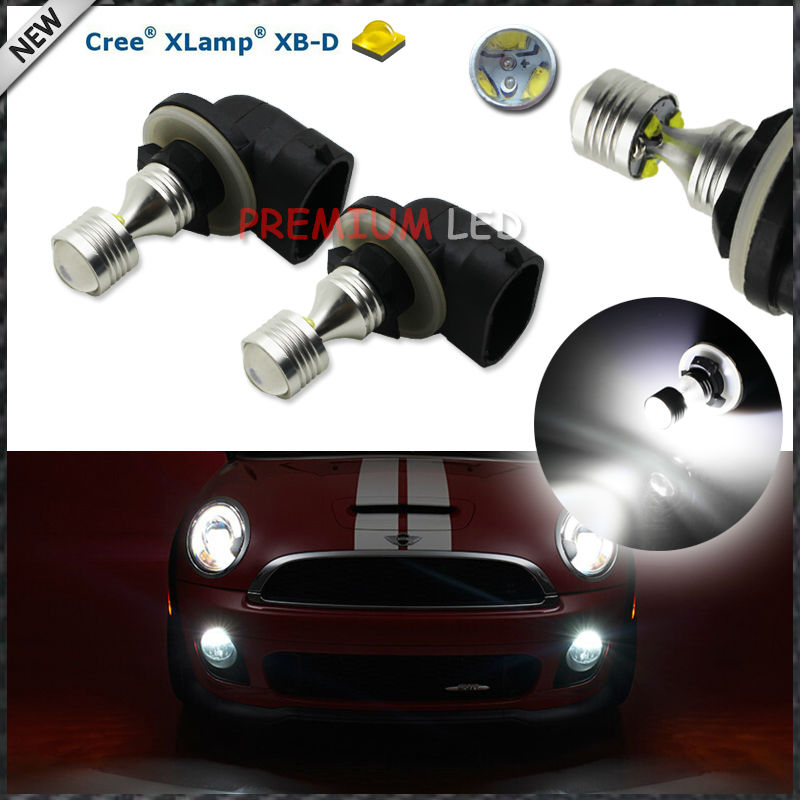 HID Xenon White 6-CRE'E XB-D 881 862 886 889 894 896 898 LED Replacement Bulbs For Car Fog Lights Driving Lamps