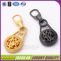 Factory price promotion designer metal zipper pull for handbags
