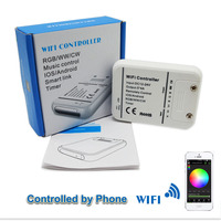 Support IOS & Android 5 Channel Wifi/Mobile Dimmer RGB + CW + WW Light Controller 5 Channel LED Controller Wifi Remote Control