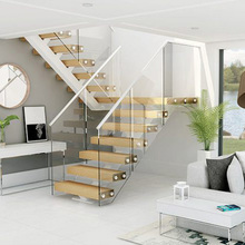 Mono stringer folding timber stairs easy install diy staircase