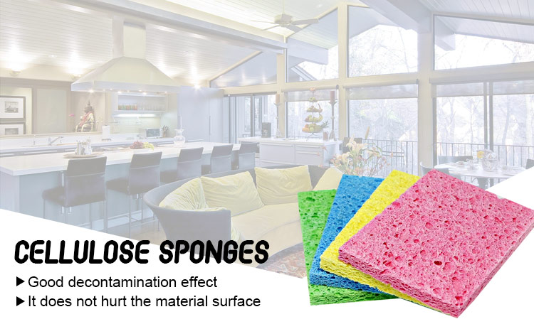 wholesale kitchen cleaning natural sponge cellulose Scouring Sponges