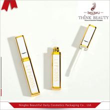 Clear cylinder plastic custom pattern lipgloss packing tube for gel lipgloss cosmetics packaging