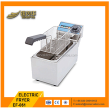 2016 Cheap price table top electric chicken fryer machine single tank 8 liters induction deep fryer for sale