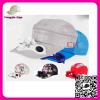 Latest design Wholesale Design your own Sport Hats with zipper baseball caps with solar powered fan