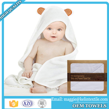 Custom animal design 100% bamboo baby bath hooded towel /baby poncho towel