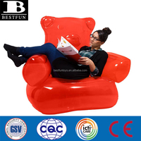 gummy bear inflatable chair heavy duty plastic funny bear sofa folding lovely bear inflatable chair