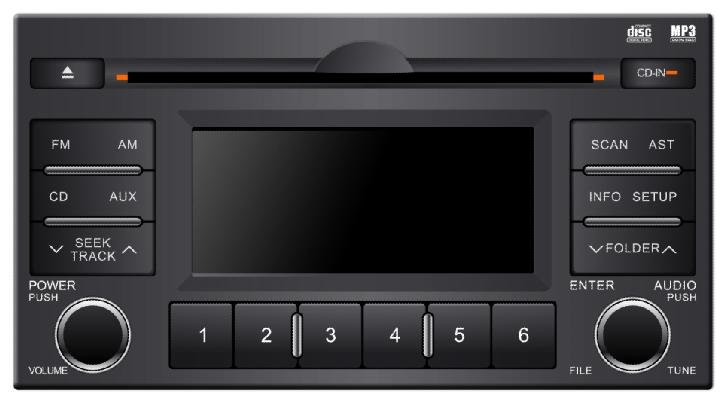 LCD display original car cd player KIA radio FM/AM
