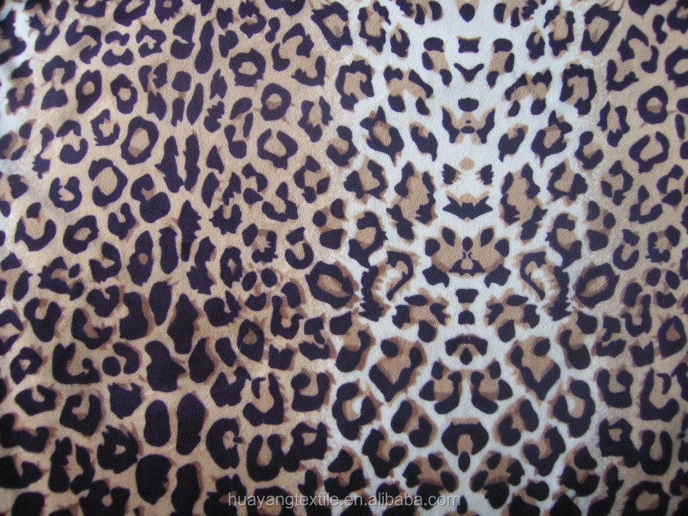 animal velboa printing fabric