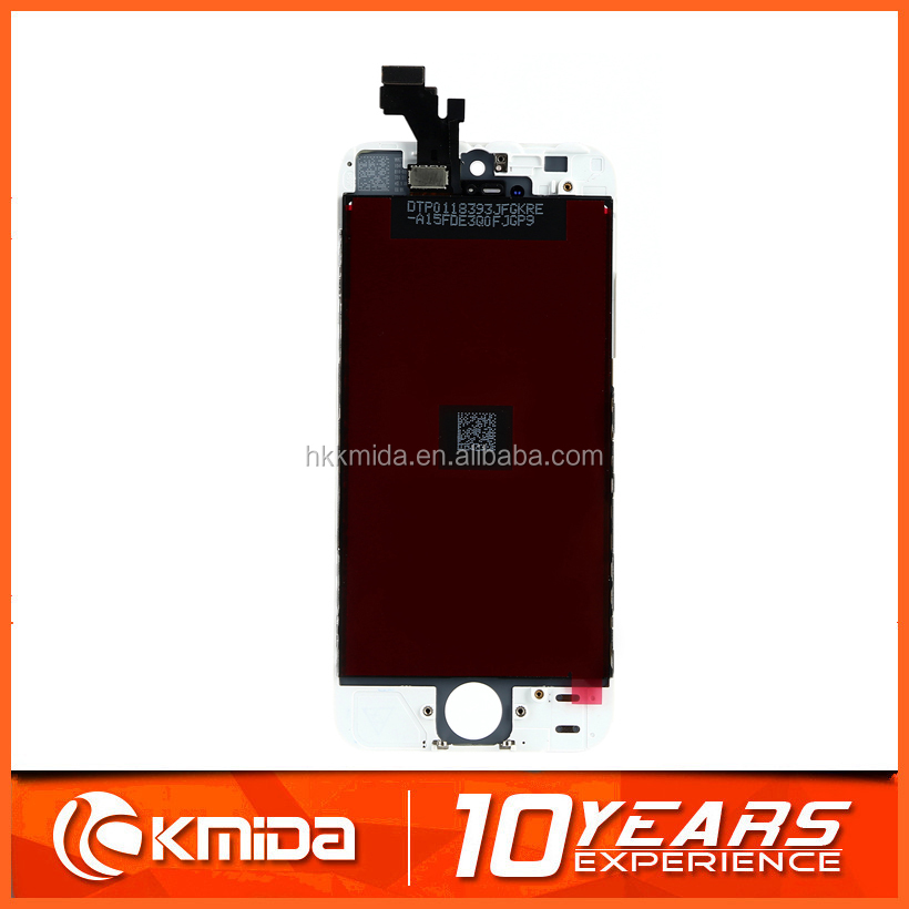 Wholesale front assembly lcd display + touch screen digitizer for iPhone 5 5G Black & white color