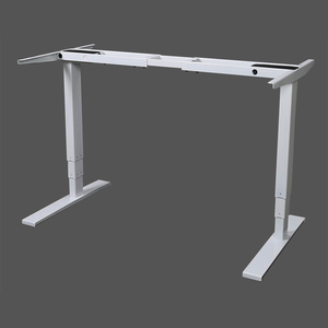 Height Adjustable Office Desk Motorized 3 Tier Adjustable Legs Extra Quiet Safety Intelligent Office Furniture