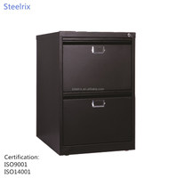 Modern design metal office furniture 2 drawer vertical filing cabinet made in China