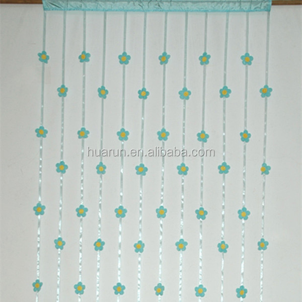 sun flower decoration window string curtain