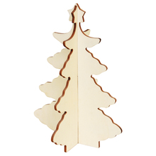 2016 Wholesale laser cutting handmade custom christmas wooden tree decoration