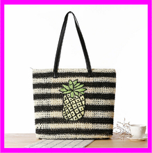 KDA286 wholesale 2016 elegant women's pineapple straw basket beach bag