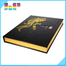 printing hardcover spiral softcover 8*10 inch elegant wedding guest book & photo album