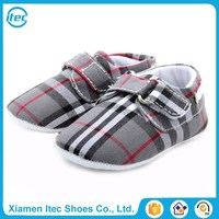 UK England style design plaid fabric brand baby shoes,check baby shoes,infant toddler shoes brand wholesale