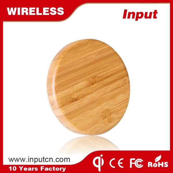 Electric Type and Bamboo Material Fast Charging Wireless Charger Pad wireless charger for ipad 2