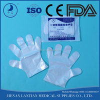 Plastic medical pack pe disposable film gloves