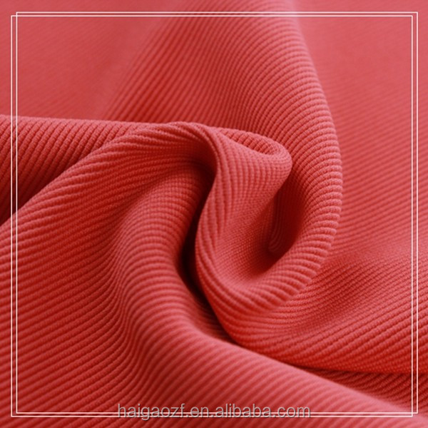 96 Polyester 4 Spandex Ottoman Knitting Fabric